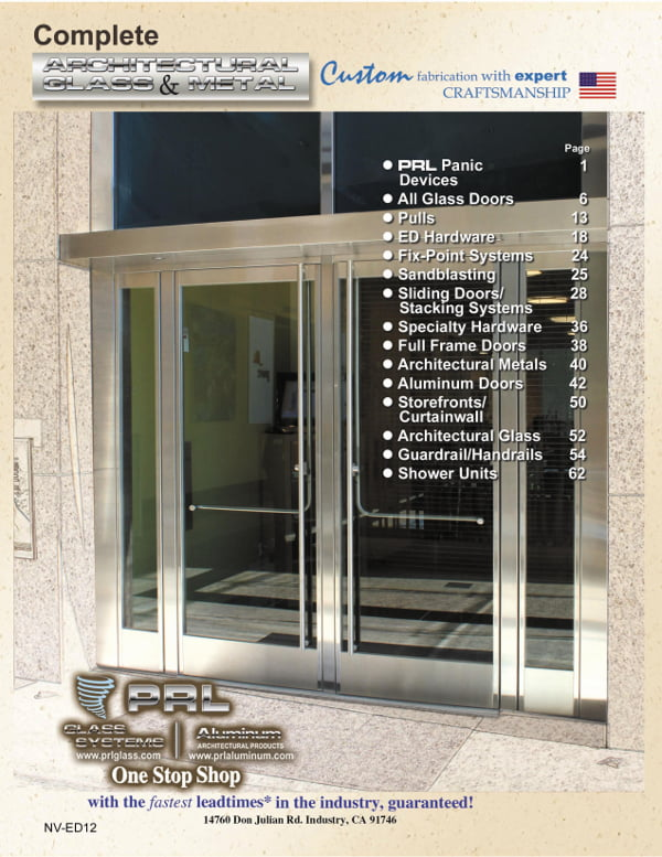 Complete 2011 Architectural Glass and Metal Manufacturers Catalog