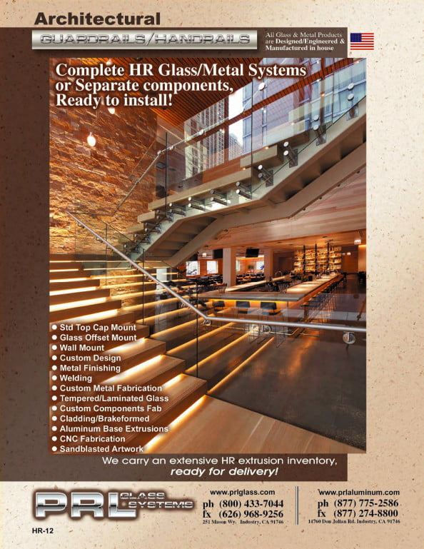 Complete 2012 Architectural Glass and Metal Handrail Systems Manufacturers Catalog