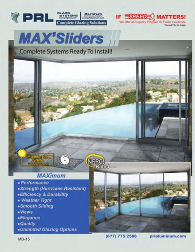2012 MAX Aluminum Sliding Door Catalog