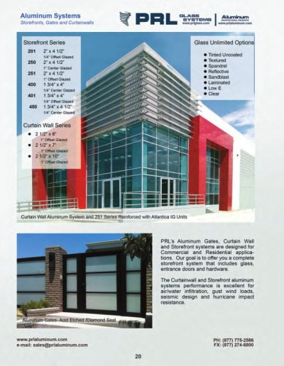 Storefronts, Gates & Curtainwalls