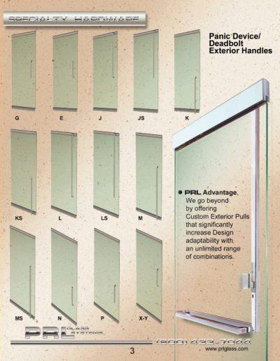 Panic Device / Deadbolt Exterior Handles