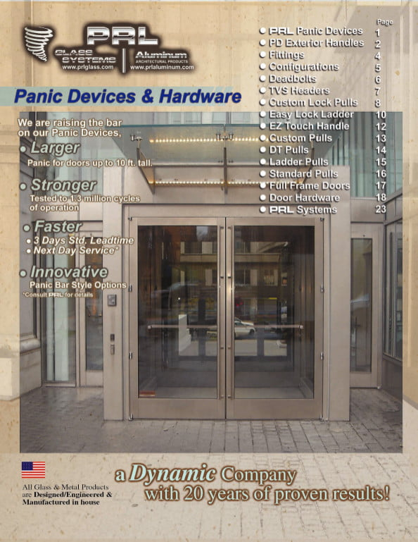 Complete 2012 Panic Devices and Hardware Manufacturers Catalog