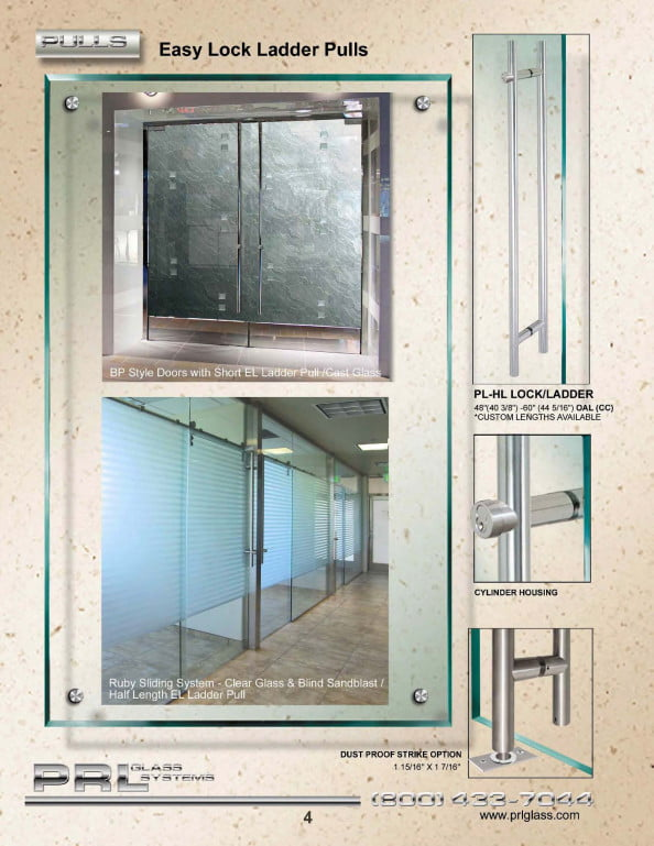 Dual Tone Door Pulls Architectural Glass And Metal