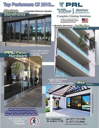 2013 Top Performing Glazing System