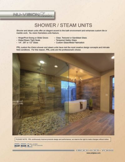 Nu-Vision Series Shower/Steam Units