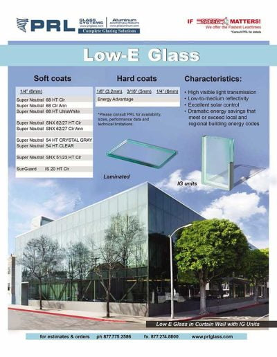 PRL Low-E Glass