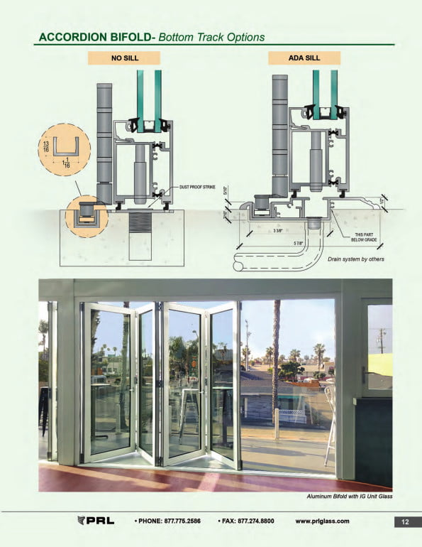 Accordion Bifold Door Bottom Track Options 2