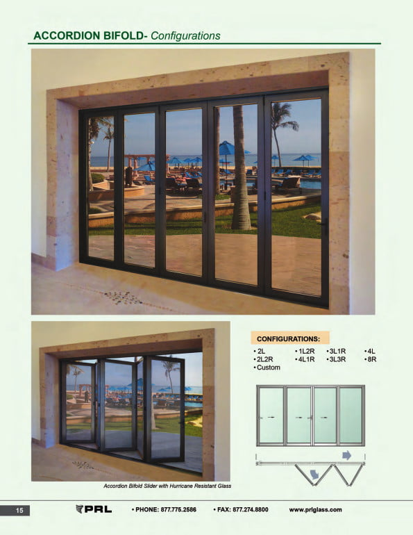 Accordion Bifold Door Configurations 1