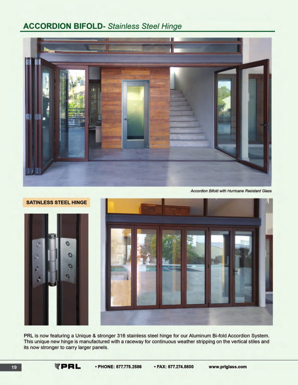 Accordion Bifold Door Stainless Steel Hinge 1