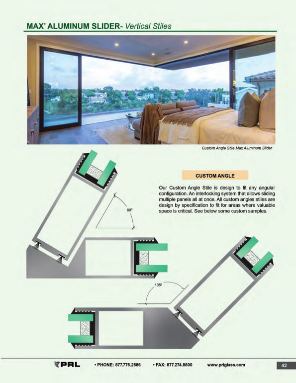 Vertical Stile Glass and Aluminum Sliding Door 2