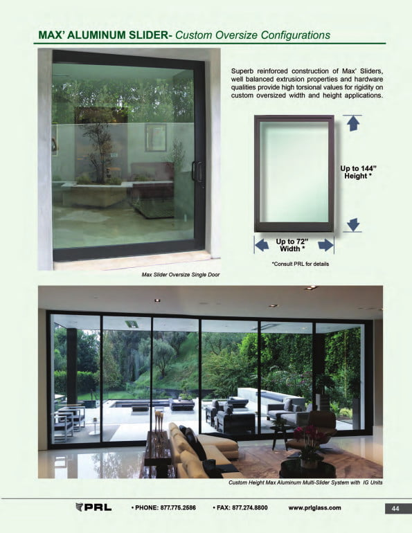Custom Oversized Glass and Aluminum Sliding Door 2