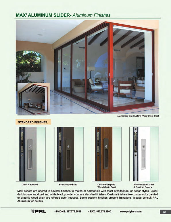 Aluminum Sliding Door Finishes