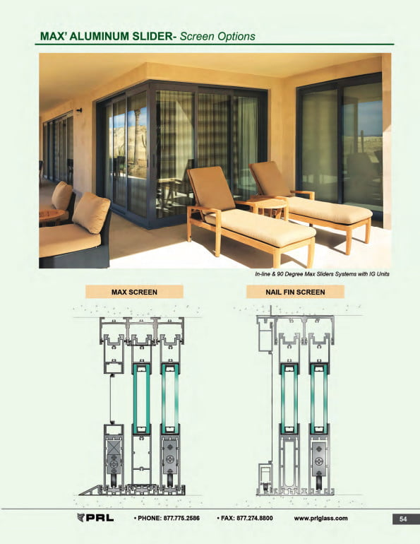 Glass and Aluminum Sliding Door Screen Options 2