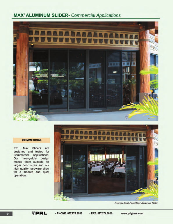 Commercial Application Sliding Doors 1