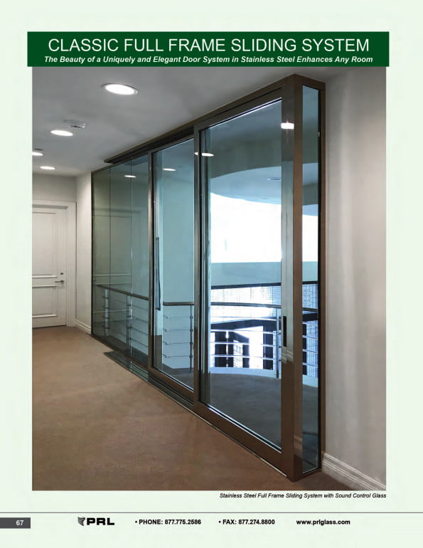 Classic Full Frame Glass and Aluminum Sliding Doors