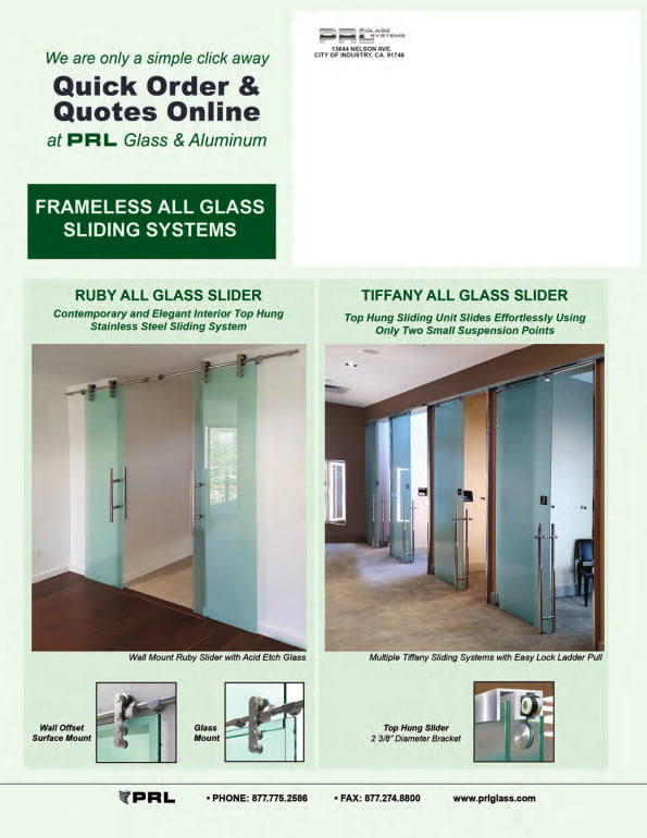 Frameless All Glass Sliding Door Systems
