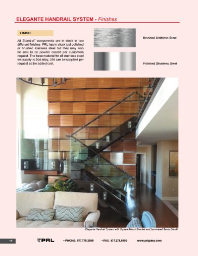Elegante Handrail System - Finishes