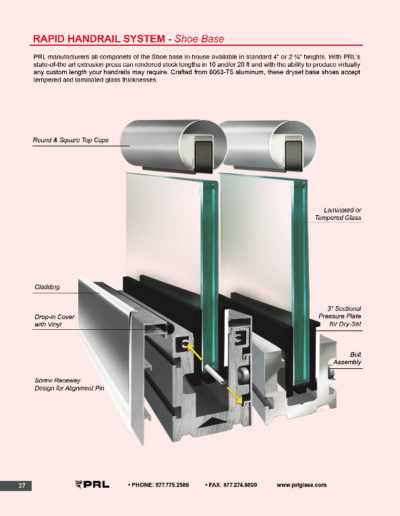 Rapid Handrail System - Shoe Base