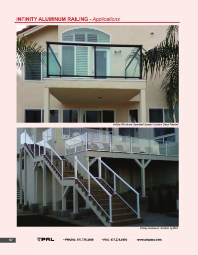 Infinity Aluminum Railing - Applications