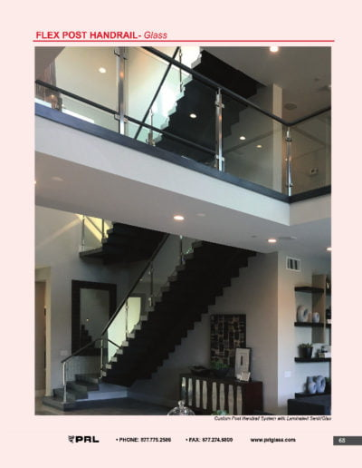 Flex Post Handrail System - Glass