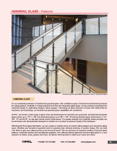 Handrail Glass - Features