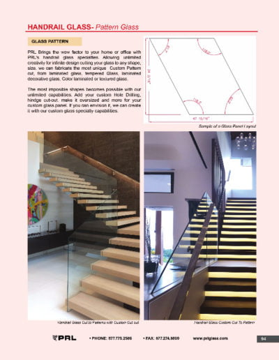 Handrail Glass - Pattern Glass