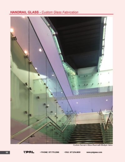 Handrail Glass - Custom Glass Fabrication
