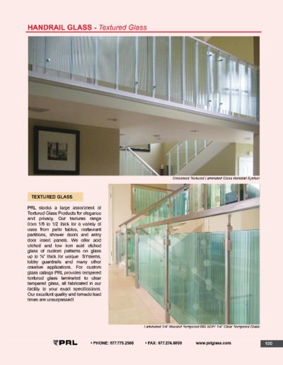 Handrail Glass - Textured Glass