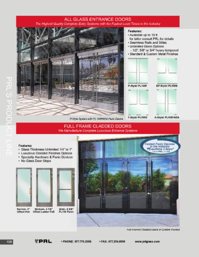 All Glass Entrance Doors