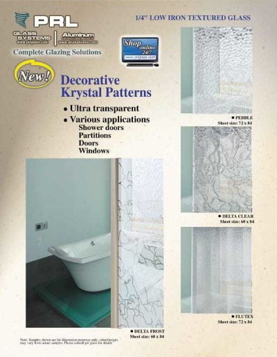 Four Krystal Textured Glass Patterns