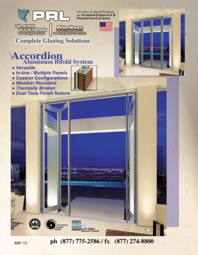 Accordion Aluminum Bifold Doors
