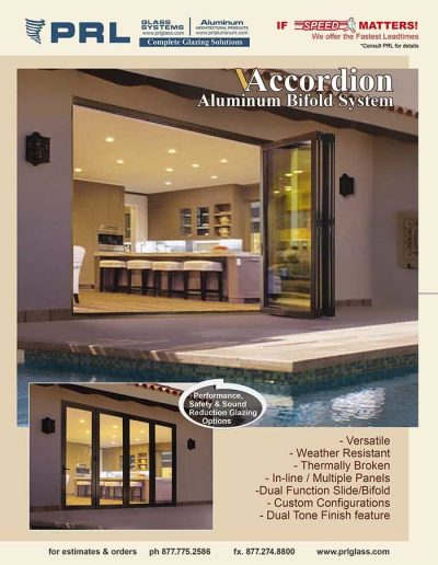 Accordion Sliding Bifold System