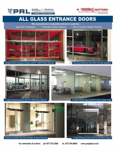 All Glass Entrance Doors and Hardware