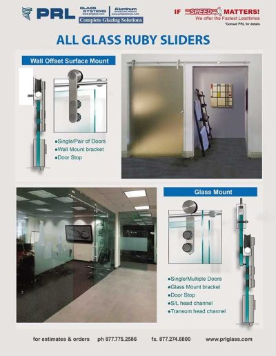 All Glass Sliding Doors