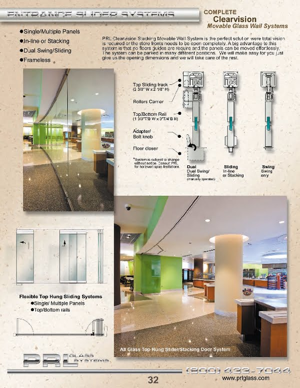 PRL has designed the moveable glass wall system to be tailored to match various configurations ranging from inline, angled and/or curved.