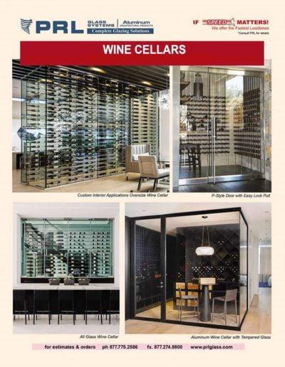 all glass wine cellars
