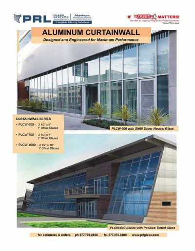 Aluminum Curtail Wall Systems