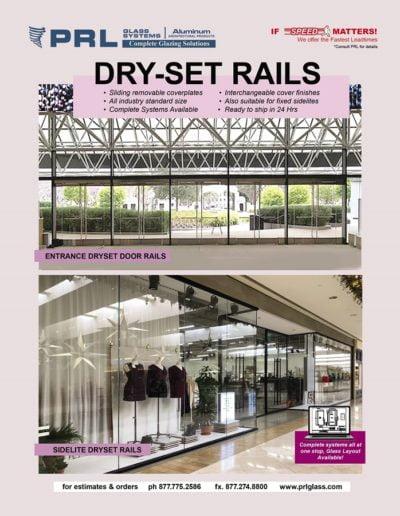 Aluminum Dryset Sidelite Rails