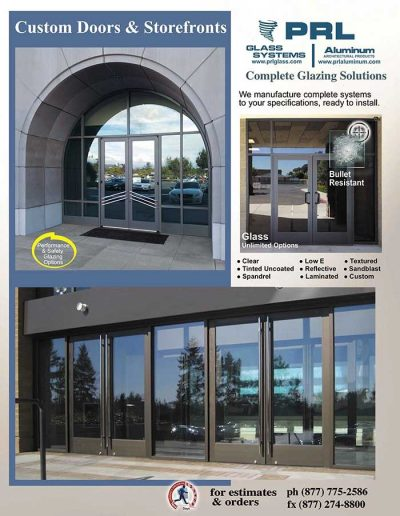 Aluminum Entrance Doors and Storefronts