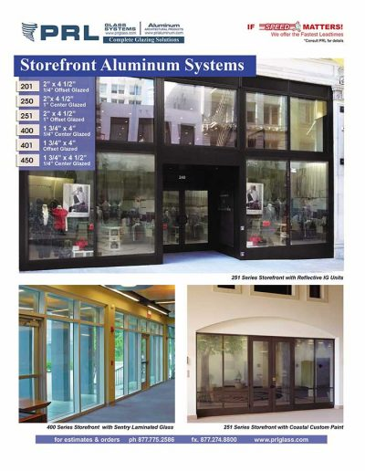 Aluminum Storefront Products