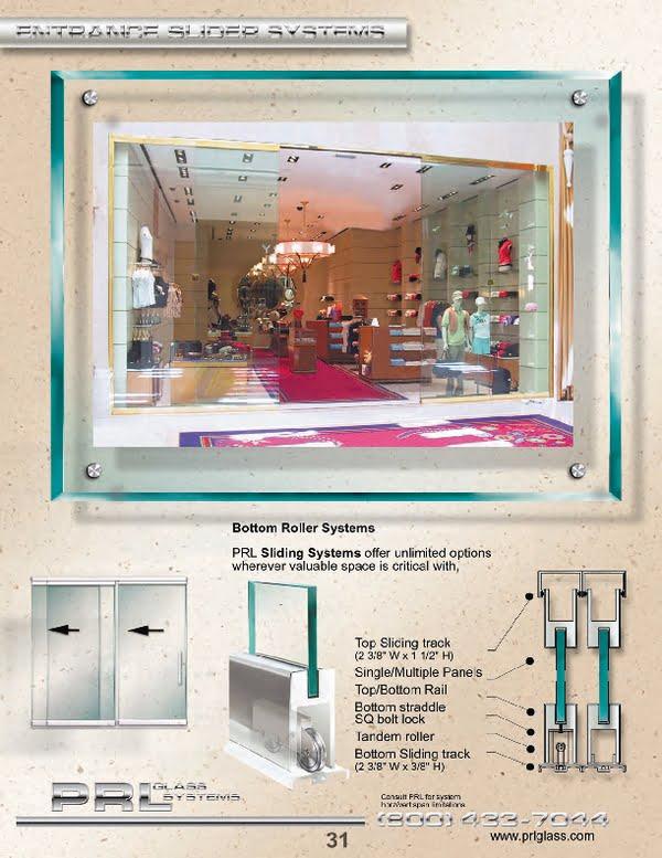Frameless Sliding Glass Doors - Bottom System