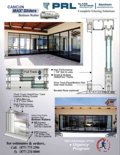 Bottom Rolling Sliding Doors
