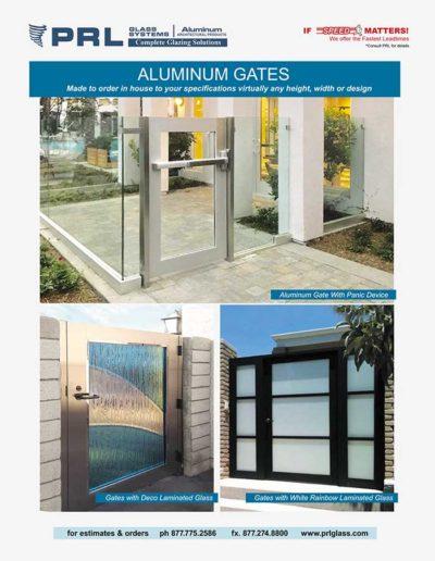california aluminum framed glass gate manufacturer