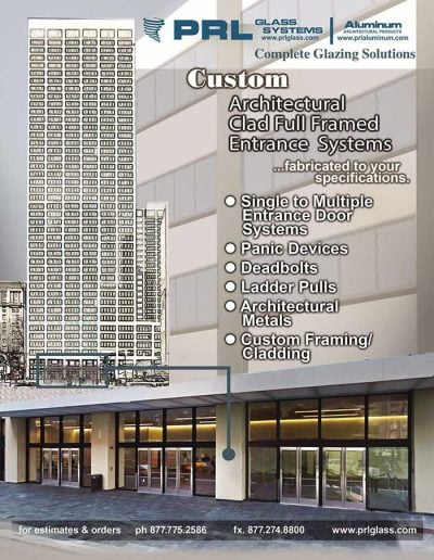 Clad Full Framed Entrance Door Systems