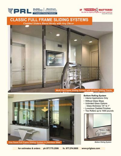 Classic Full Framed Sliding Doors