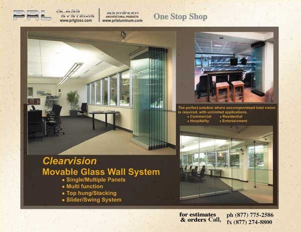 Clearvision Stacking Movable All Glass Wall System
