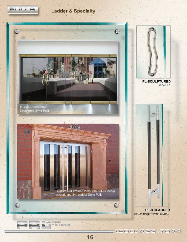 PRL is the master of Commercial Doors. Our extensive line of Specialty Commercial Doors include All Glass Door Systems, Aluminum Entrance Doors, Full Frame Clad Doors and Sliding Doors to name a few.