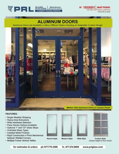 complete aluminum entrance door systems