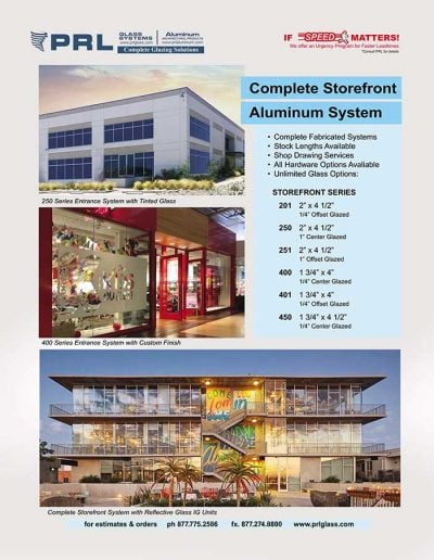 Complete Aluminum Storefront Systems