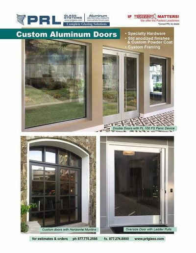 Custom Aluminum Entrance Doors